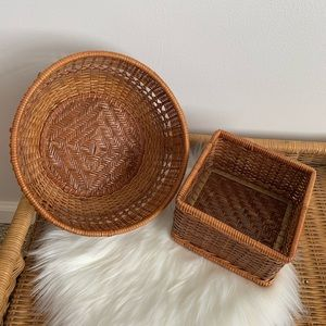 Other - Set of wicker baskets - square and round